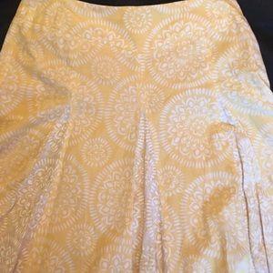 Ann Taylor yellow skirt